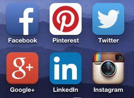 social media logos mobile